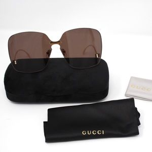 Gucci GG0352S Women Sunglasses - Gold/Brown Lens